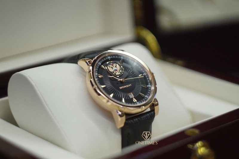 Đồng hồ Nga Poljot President Carving Black